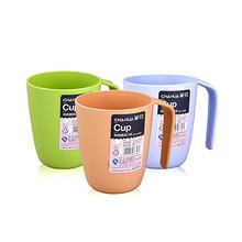 下单立减# 茶花 简约塑料漱口杯 3件 12元包邮(20.7-8.7)