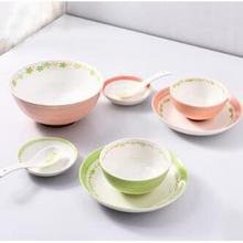 千顺 家用陶瓷釉下彩碗碟套装 9件套 39元包邮(89-50券)