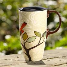 折15.7元/个# 爱屋格林 创意陶瓷带盖马克杯 500ml*3件 47元包邮(87-40券)