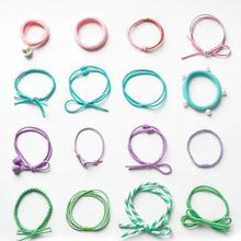 甜美可爱# 欧尚 黑色日韩发绳组合 16件套 9.9元包邮(14.9-5券)