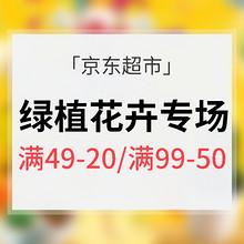 阳春三月# 京东超市 绿植花卉专场 满49-20券/满99-50券