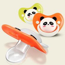 彩色熊猫 婴儿仿真硅胶安抚奶嘴 9.9元包邮(19.9-10券)