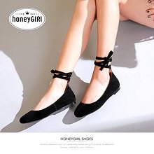 前5分钟半价# honeyGIRL 春款绑带浅口单鞋 169返84.5元