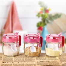 多彩厨房# 迎馨 玻璃调料盒三件套 9.8元包邮(12.8-3券)