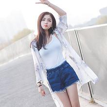 轻薄如翼# 古妠 时尚韩版雪纺防晒衣 14.5元包邮(19.5-5券)