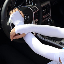 学车专用# 甘莎 冰丝防晒冰爽袖套 2对 6.9元包邮(拍2付1,19.8-9.9-3券)