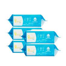 折3.9/包# 宝之篮 婴儿湿巾纸 80抽*5包 19.9元包邮(29.9-10券)