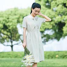 仙女范# vunze 文艺复古连衣裙 49元包邮(69-20券)