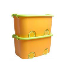 开馨宝 加厚塑料带轮有盖儿童收纳箱 2个装 43.9元包邮(53.9-10券)