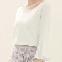 夏季风情# 韩芝霏 韩版夏装五分袖t恤 49元包邮(79-30券)