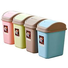 大容量加厚# 汉世刘家 摇盖家用垃圾桶12L+送桌面垃圾桶 15.8元包邮(18.8-3券)