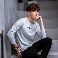 前3分钟半价# 唐狮 春装新款男款长袖T恤 13点 34.5元包邮(69返34.5)