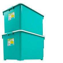 冬季收纳必备# 沃之沃 特大号塑料收纳箱 66L 2个 99元包邮(109-10券)