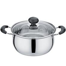 全能料理# 建丽 家用不锈钢汤锅 22cm 19.8元包邮(24.8-5券)
