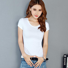 13色可选# 韩尼亚女 纯棉修身显瘦纯色T恤 14.9元包邮(29.9-15券)