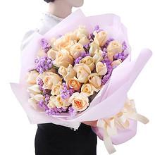 同城配送# 花语天下 浪漫玫瑰花束33朵 88元包邮(138-50券)