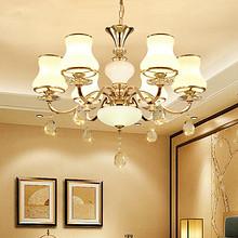 灯光闪烁 欧式客厅现代奢华水晶吊灯 199元包邮(299-100券)