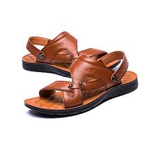 红蜻蜓 男士透气防滑真皮凉鞋 99元包邮(159-60券)