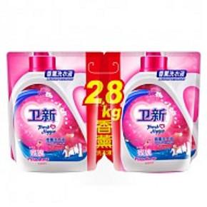 买1送1# 卫新 洗衣液 索菲亚玫瑰两袋装 2.8kg*2件 29.9元