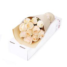 顺丰包邮# 花语天下 香槟玫瑰 11支礼盒装 38元包邮(88-50券)