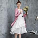 运潮 夏季小清新时尚棉麻连衣裙套装 79元包邮(139-60券)