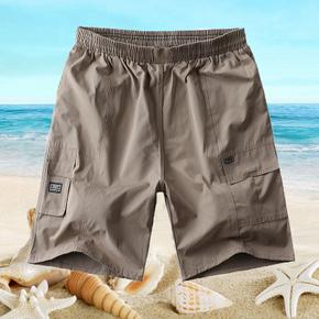 中老年男士 休闲5分短裤 9.9元包邮