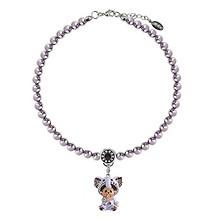 治愈系萌物#萌趣趣 小象紫色仿水晶珍珠项链 299元(499,下单6折)