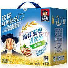 桂格 高纤燕麦乳榛果味25ml* 12包礼盒装  9.9元