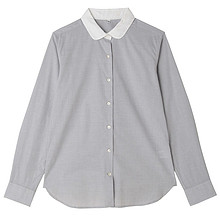 无印良品 26SC705 女士圆领衬衫     89元