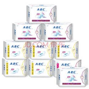 ABC 棉柔舒适日夜卫生巾组合9包+送1包 49.9元