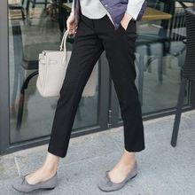 前5分钟# 女式黑色九分西装裤子 2件 49元包邮(98,拍2付1)