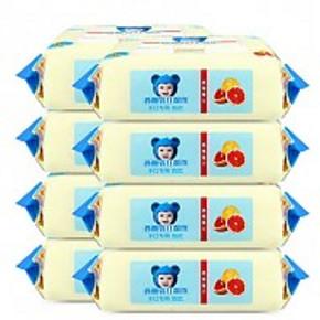 漂亮宝贝 湿巾婴儿手口湿巾80抽*8包 共640片 25.5元包邮