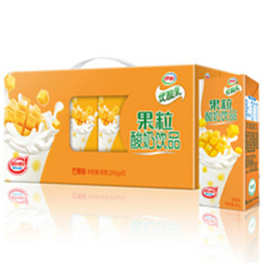 伊利 优酸乳果粒酸奶饮品芒果味 245g*12盒  折29.3元(36,满99-20)