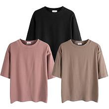 打包价# 女士BF宽松韩版T恤*3 58元包邮(买1送2)