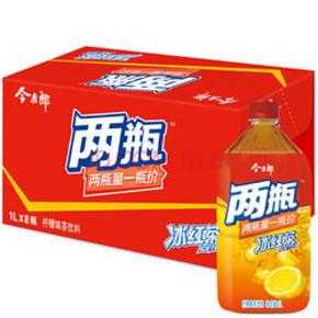 夏天的味道# 今麦郎 柠檬味冰红茶 1升*8瓶 整箱 22.9元