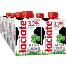 波兰进口# Laciate 高温灭菌全脂牛奶 0.5L*8盒 33.2元(29+4.2)