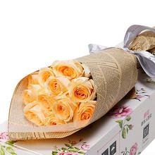 鲜花速递# 爱唯一  11枝玫瑰花礼盒  19.9元包邮(39.9-20券)