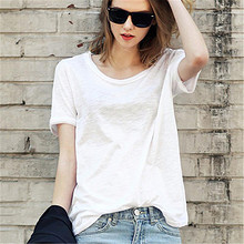 前10分钟# 拍2件 女士时尚透气夏季纯色T恤*2件 29元包邮(买1送1)