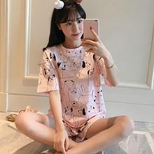 前10分钟# 韩版甜美家居服可爱卡通睡衣套装 25.8元包邮(39.9-14.1)
