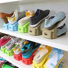 前3分钟半价# 纳美嘉 可调节一体式塑料鞋架10只 29.8返14.9元