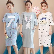 前10分钟半价# 韩版短袖甜美女士卡通睡裙 25.8元包邮(51.6-25.8)