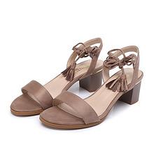 商场同款#大东  2017新款高跟百搭绑带女鞋  39元包邮(59-20券)