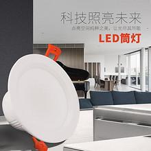 白菜好物# 科光 LED5W超薄嵌入式白光花灯射灯 5.8元包邮(15.8-10券)