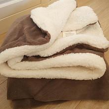 柔软舒适# 小毛毯羊羔绒双层加厚珊瑚绒  21.9元包邮(24.9-3券)