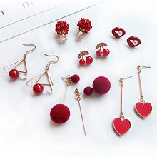 时尚百搭# 安雅 耳环6件套装网红同款 12.9元包邮(15.9-3券)