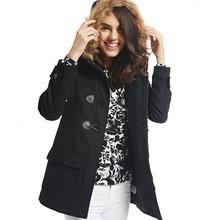 双11预售# Old Navy 女装保暖毛领牛角扣外套  229元(定金30+尾款199)