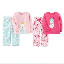 双11预售# Carter's 儿童摇粒绒长袖睡衣套装 *2件 79元(定金10+尾款74+用券) 84元