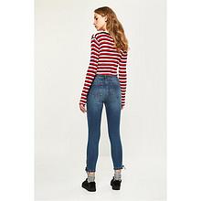 双11预售# C&A女式绑带装饰牛仔裤  89.5元(定金10+尾款79.5)
