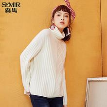 双11预售# 森马 冬季新款保暖高领白色针织衫  124.9元(定金15+尾款109.9)