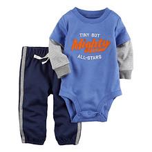 双11预售# Carter's 婴儿全棉连体衣长裤2件套   79元(定金10+尾款69)